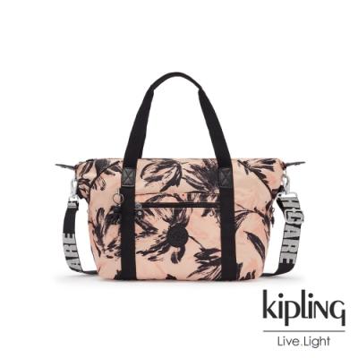 Kipling 珊瑚花潑墨手提側背包-ART