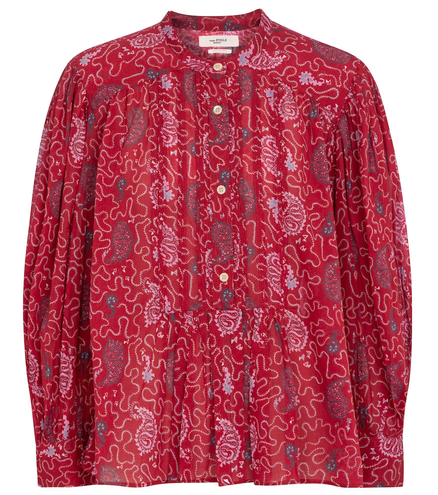 Adigra printed cotton blouse