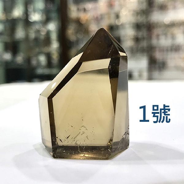 『晶鑽水晶』天然黃水晶柱 約32-38mm高 招財 意外之財 擺件 客廳 辦公桌 書桌 送禮自用
