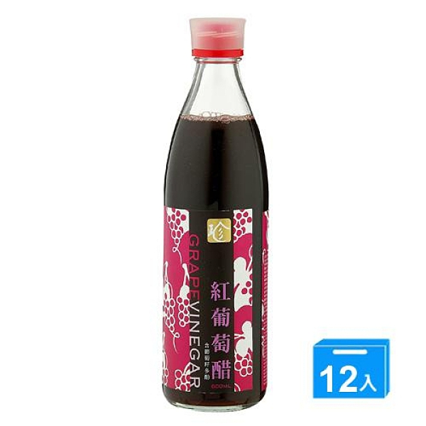 百家珍紅葡萄醋600ml*12【愛買】
