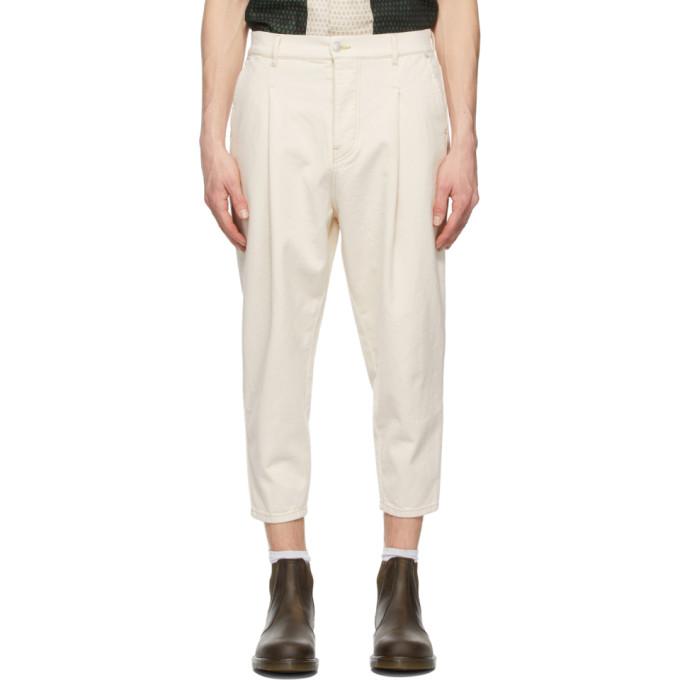 Drole de Monsieur 灰白色 Cropped 牛仔裤