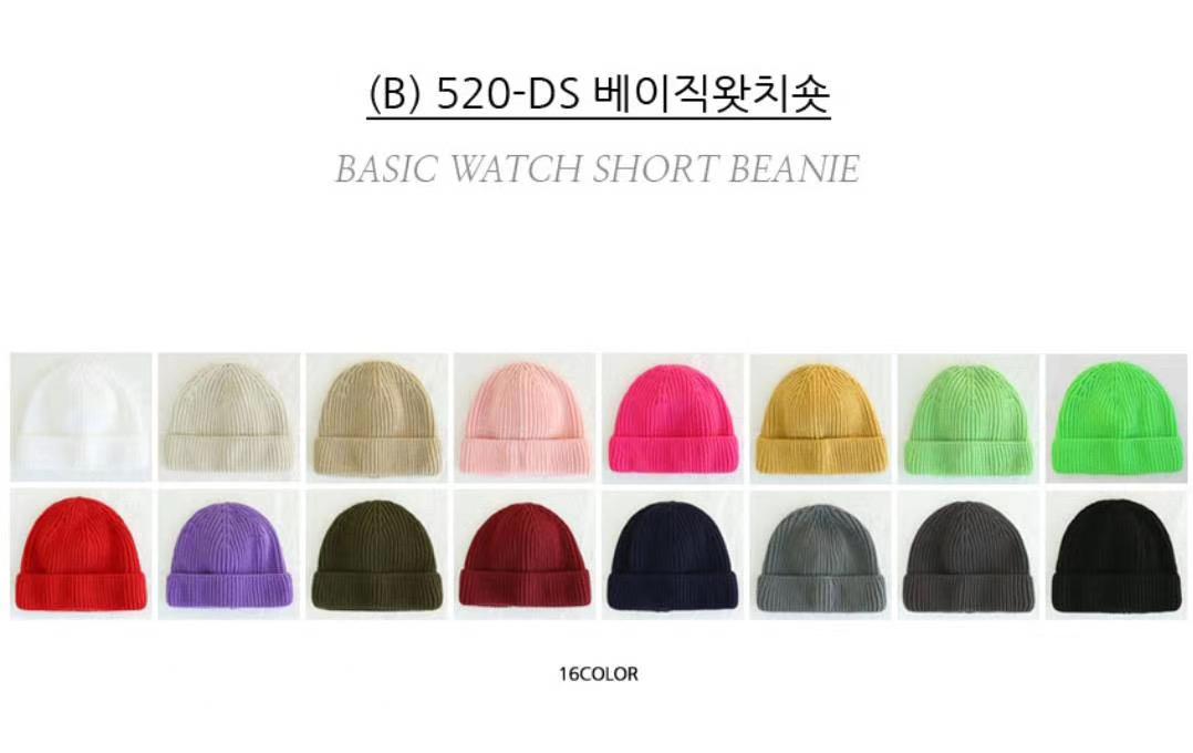 Chemistry_Girls - 韓國 520-DS 短毛帽 (多色)