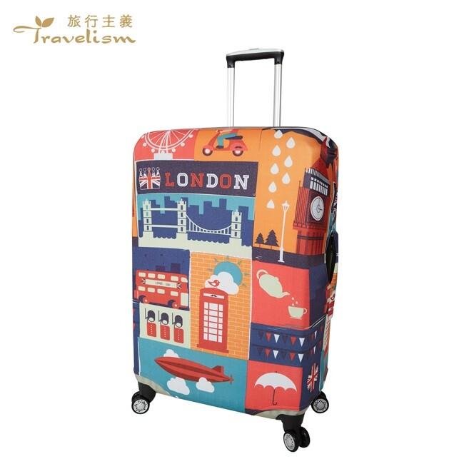 [travelism-世界系列]  lcs389倫敦噴繪 行李箱套旅行箱登機箱防塵套創意箱套