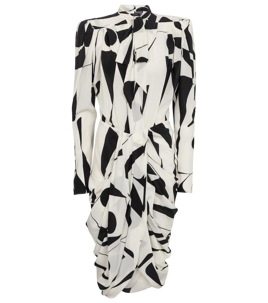 Atoae printed silk georgette midi dress
