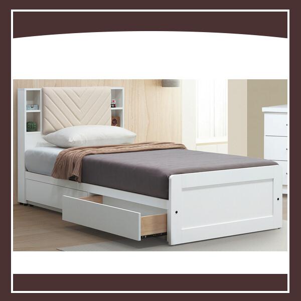 純白3.5尺床片型床架 21046059008