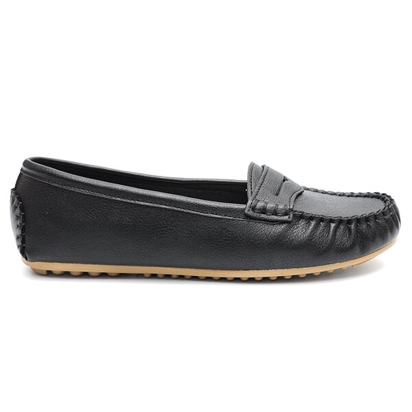 大尺碼鞋 豆豆鞋 MIT經典舒適莫卡辛鞋-黑