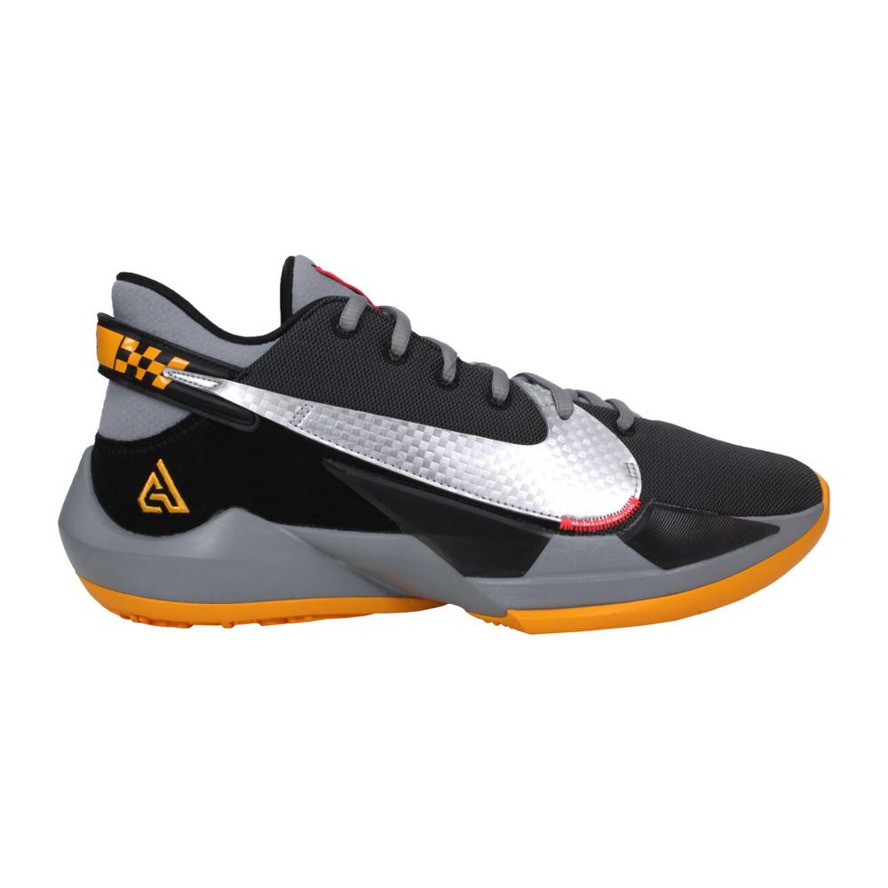 nike zoom freak 2 ep 男籃球鞋-訓練 運動 字母哥 黑黃銀