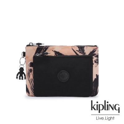 Kipling 珊瑚花潑墨雙層收納小包-DUO POUCH