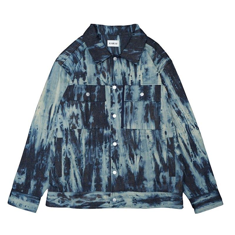 KAIKAI - Texture Playground - 漸染藍牛仔外套