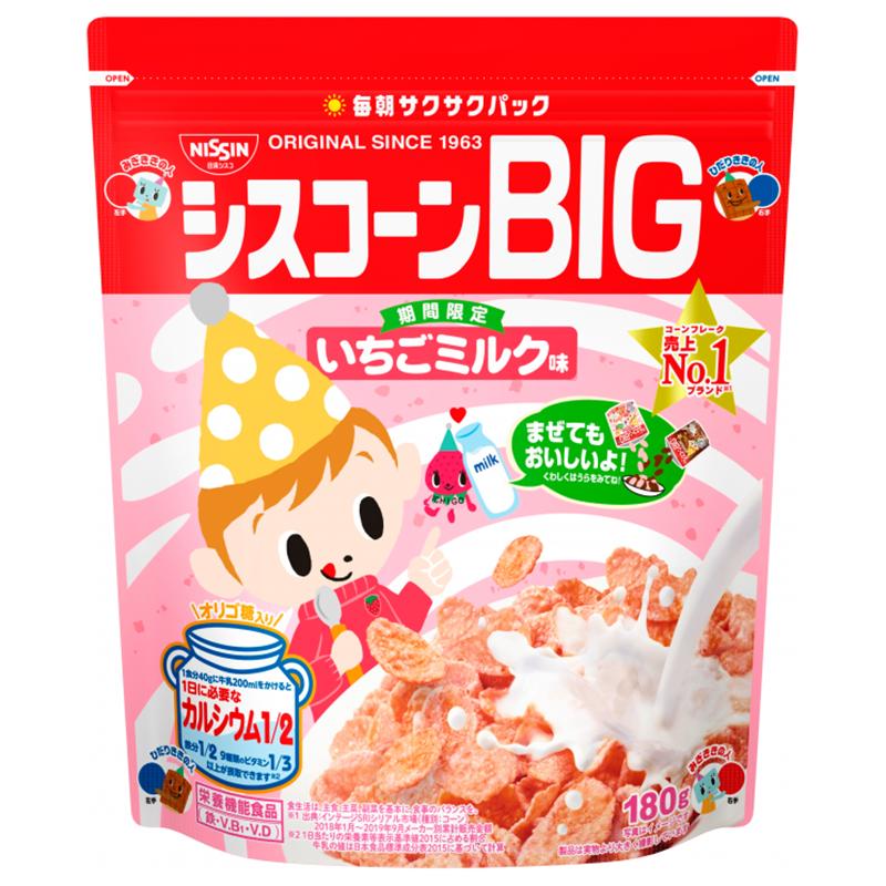 [日清 Nissin] BIG早餐片- 草莓牛奶 (180g/袋)