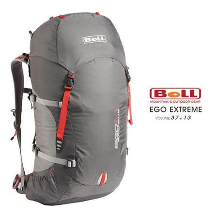 【捷克 BOLL】 EGO EXTREME 37+13L 專業輕量健行登山背包(附防雨套/登山杖扣) 183180069 灰/深灰