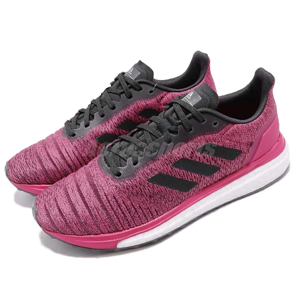 adidas 慢跑鞋 Solar Drive W 粉紅 黑 BOOST中底 基本款 女鞋 運動鞋【ACS】 AQ0339