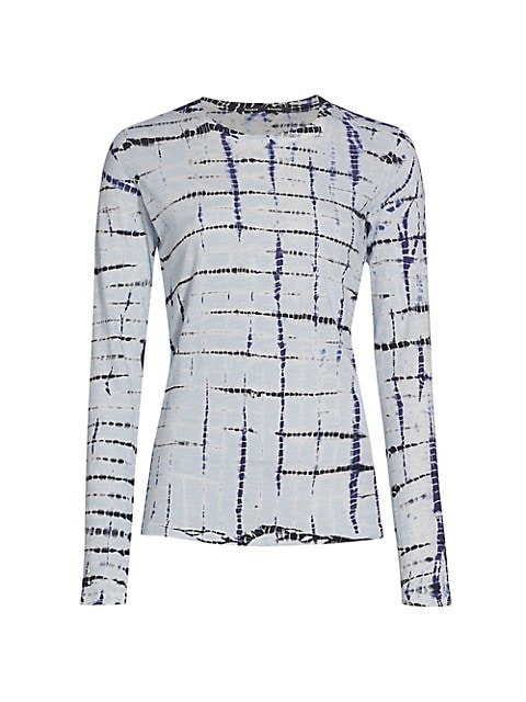 Tie-Dye Tissue Jersey Long-Sleeve Shirt