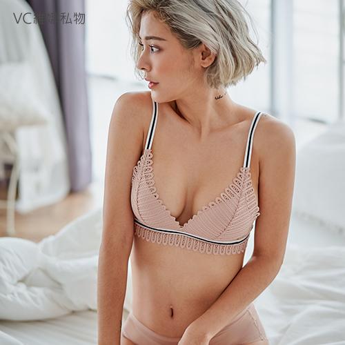 無鋼圈內衣蕾絲款charming bralette-粉色VC維娜私物36038