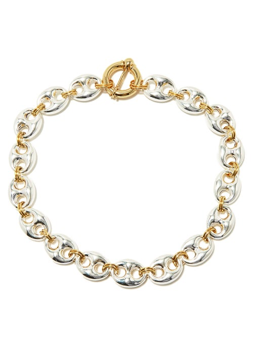 Timeless Pearly - Coffee Bean Sterling-silver Bracelet - Womens - Silver Gold