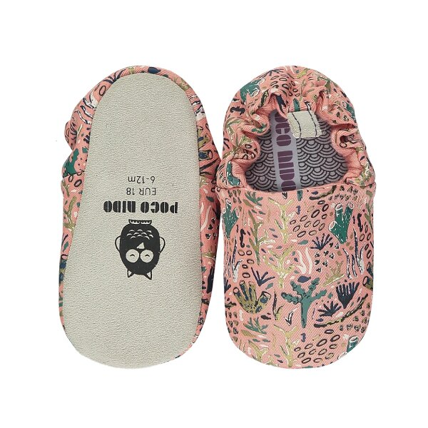 英國 POCONIDO 手工鞋|嬰兒鞋|學步鞋-浪漫珊瑚礁(粉色)(6~24M)