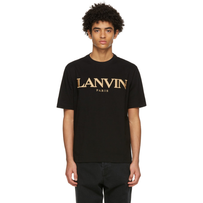 Lanvin 黑色 Regular T 恤