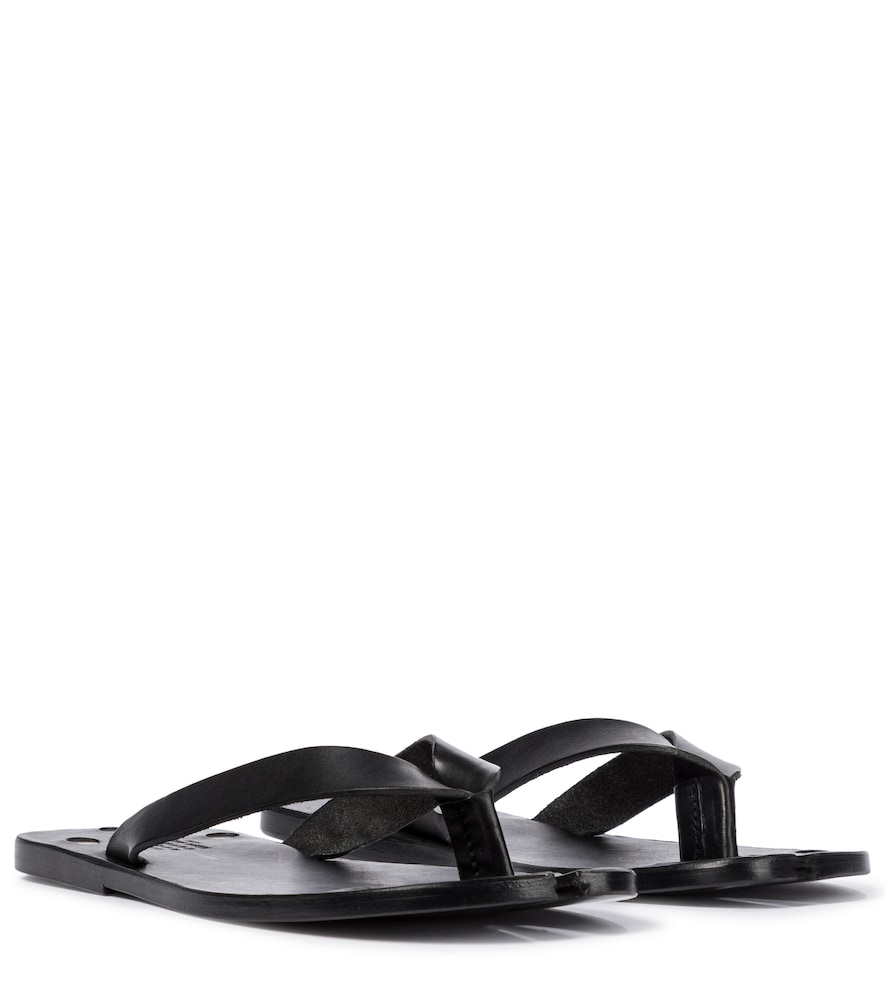 Tabi leather thong sandals
