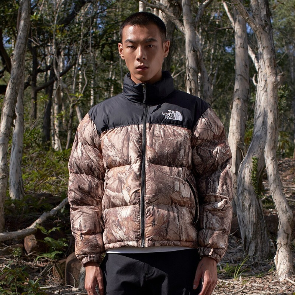 The North Face 男 1996 RETRO 700FP 羽絨外套 森林印花