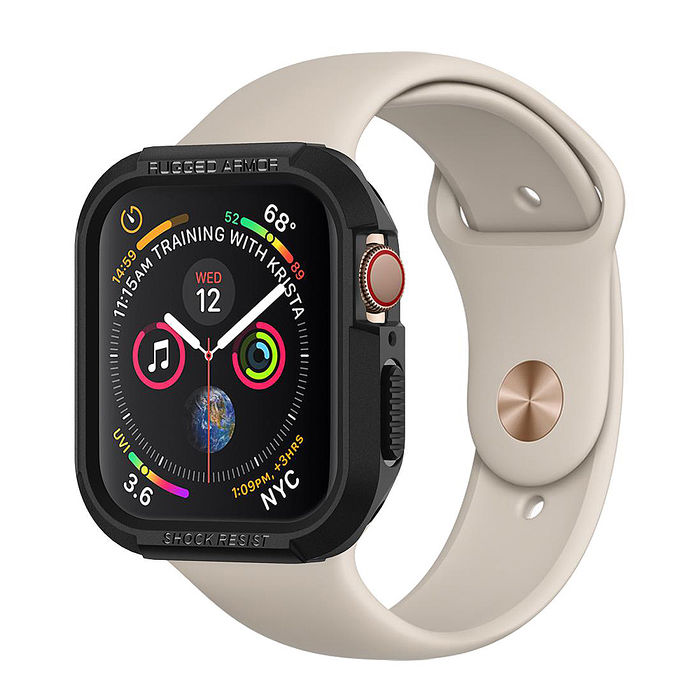(加價購)SGP / Spigen Apple Watch 系列 Series 6/5/4/SE (44mm/40mm) 防摔保護殼玫瑰金 44mm