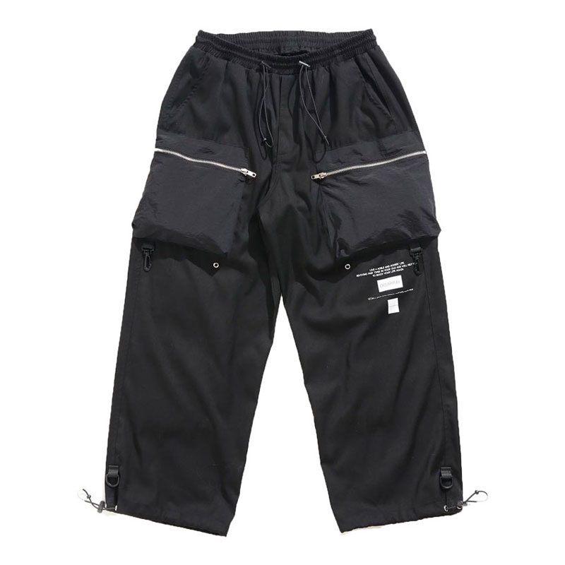 DISARRAY / Wide BDU Pants Courier 寬版口袋 西裝褲 (黑色)