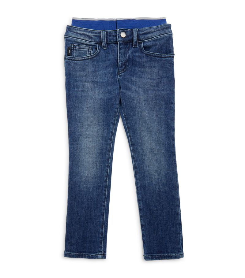 Emporio Armani Kids Logo Waistband Jeans (4-16 Years)