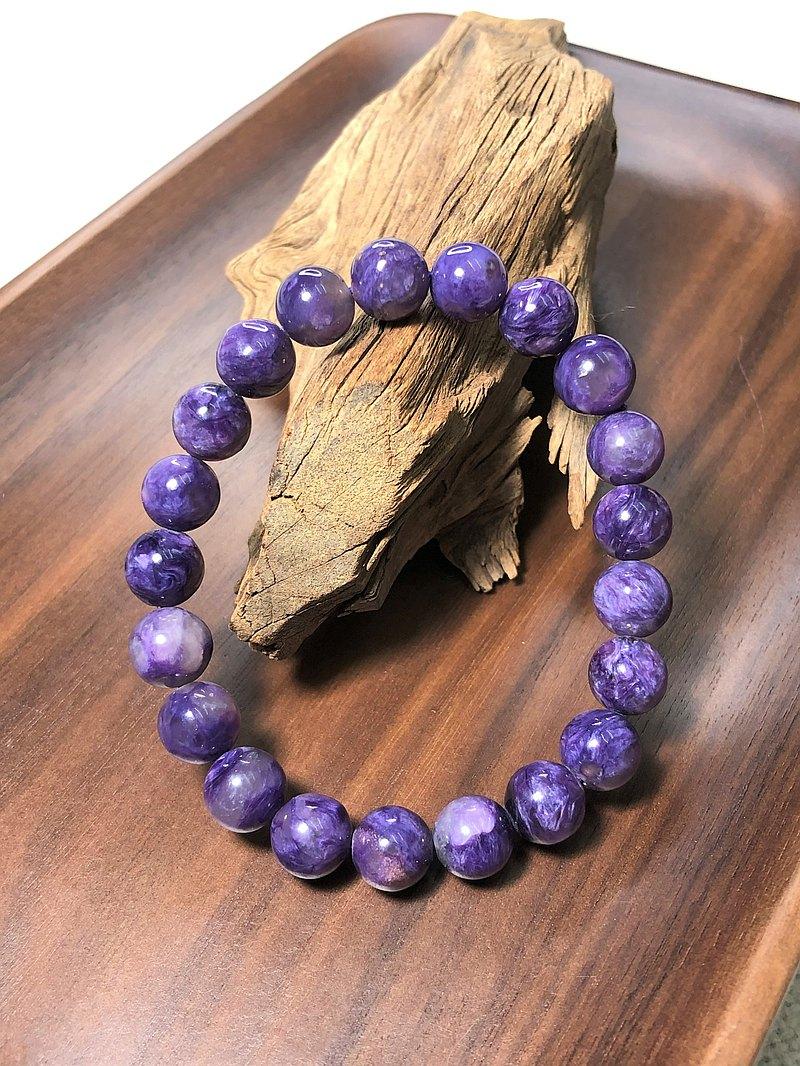 天然紫龍晶手鍊~9mm圓珠