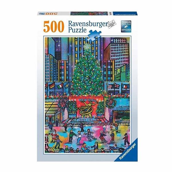 德國Ravensburger 維寶拼圖 洛克菲勒中心聖誕節 (500片)_RV16424