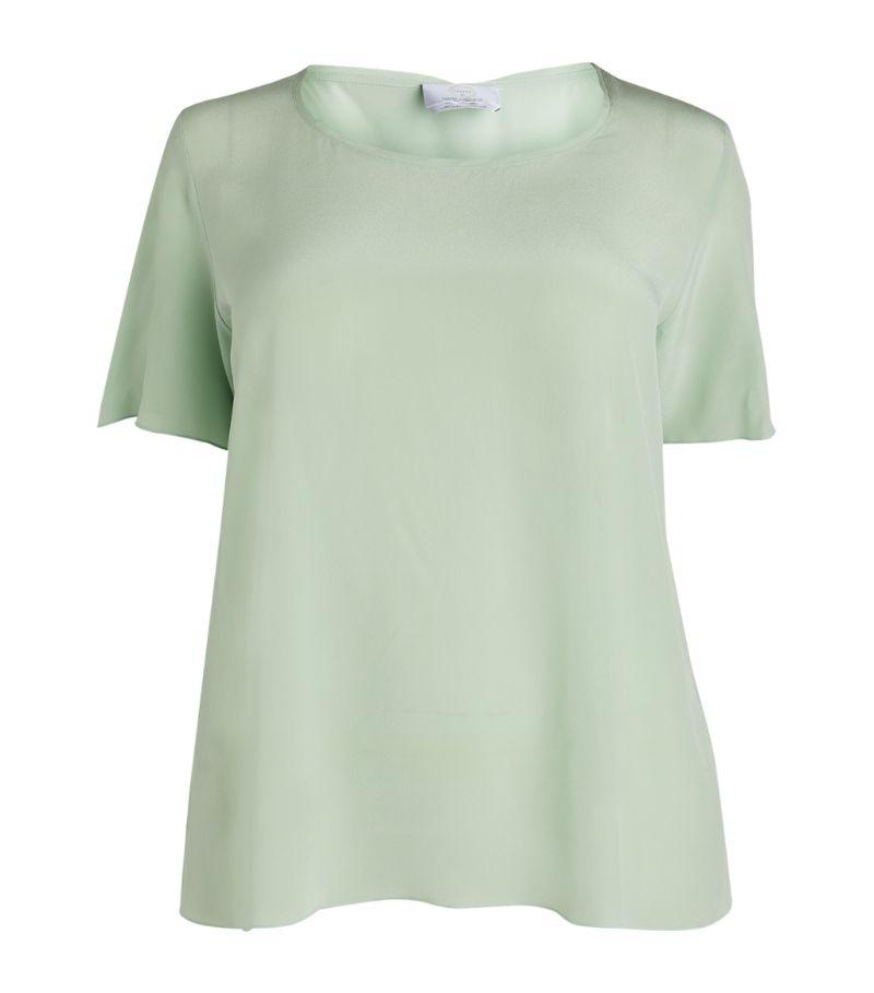 Marina Rinaldi Silk Short-Sleeved Top