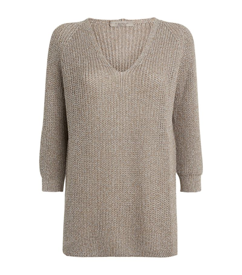D.Exterior Knitted V-Neck Sweater