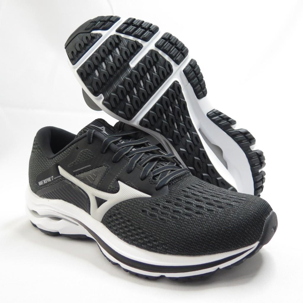 Mizuno WAVE INSPIRE 17 女款 寬楦 3E楦 慢跑鞋 J1GD214638 黑【iSport愛運動】