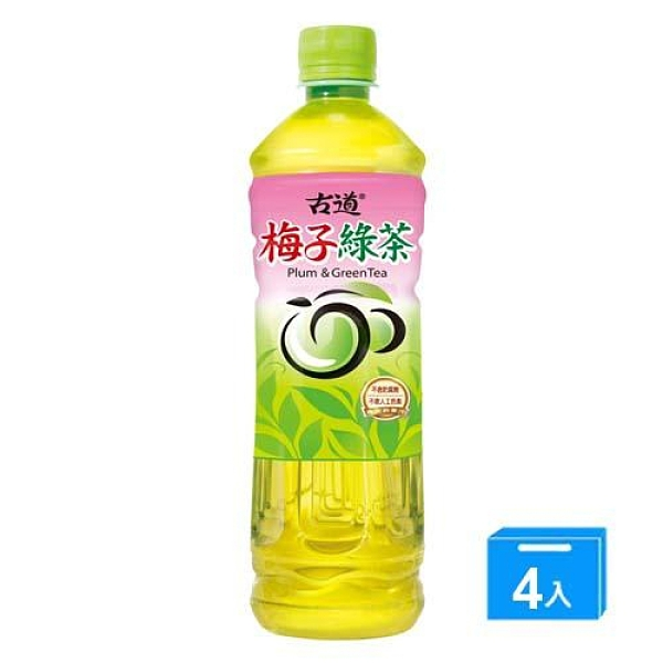 古道梅子綠茶600ml*4入【愛買】