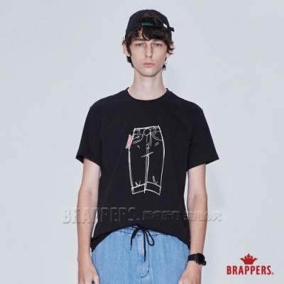 BRAPPERS 男款 牛仔褲印花基本圓領T-黑