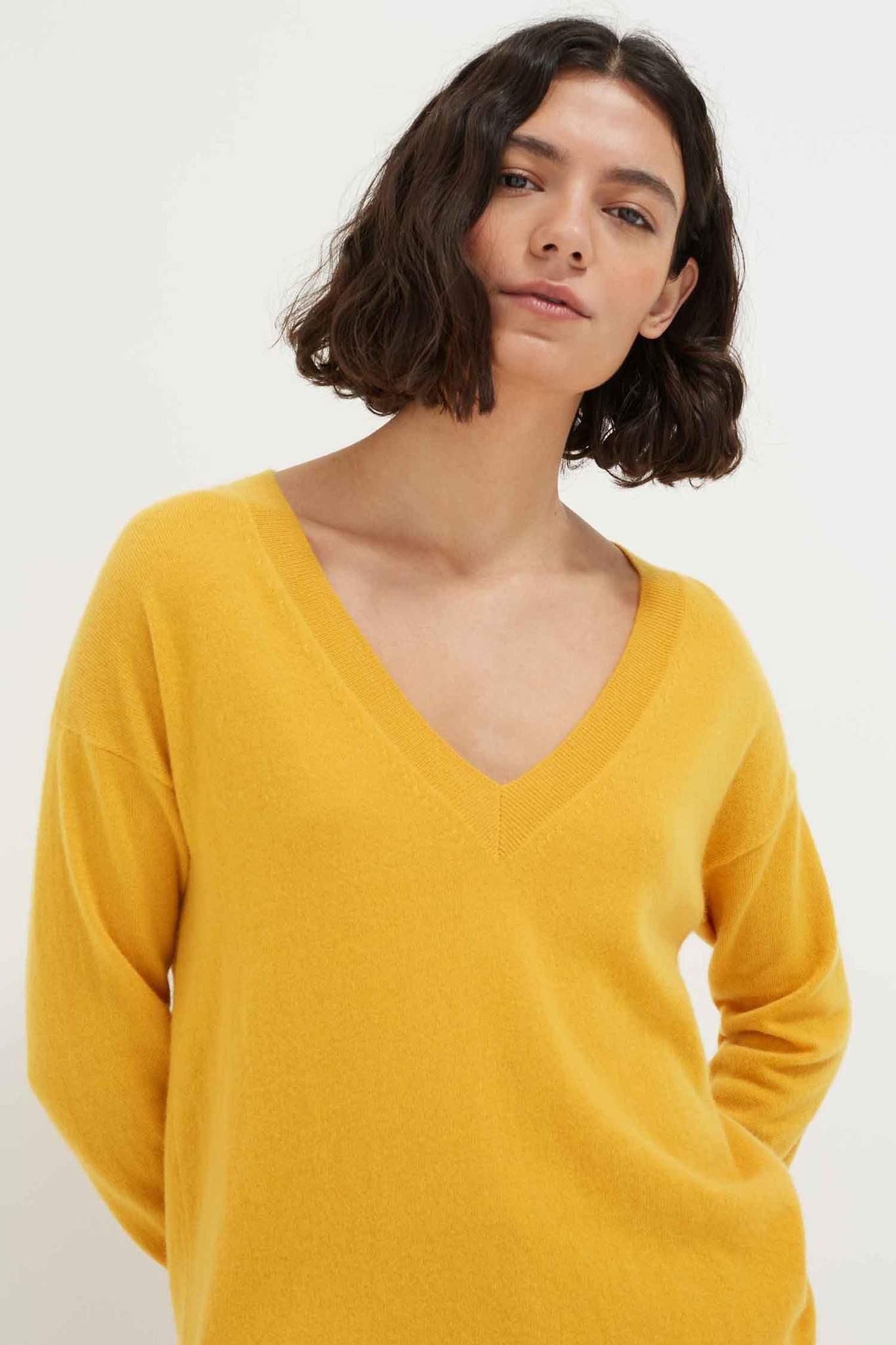 Mango Cashmere V-Neck Sweater