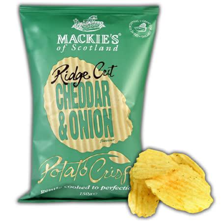 【MACKIE'S 美吉滋】洋芋片 150gx3包 (起司洋蔥 波浪厚切片)