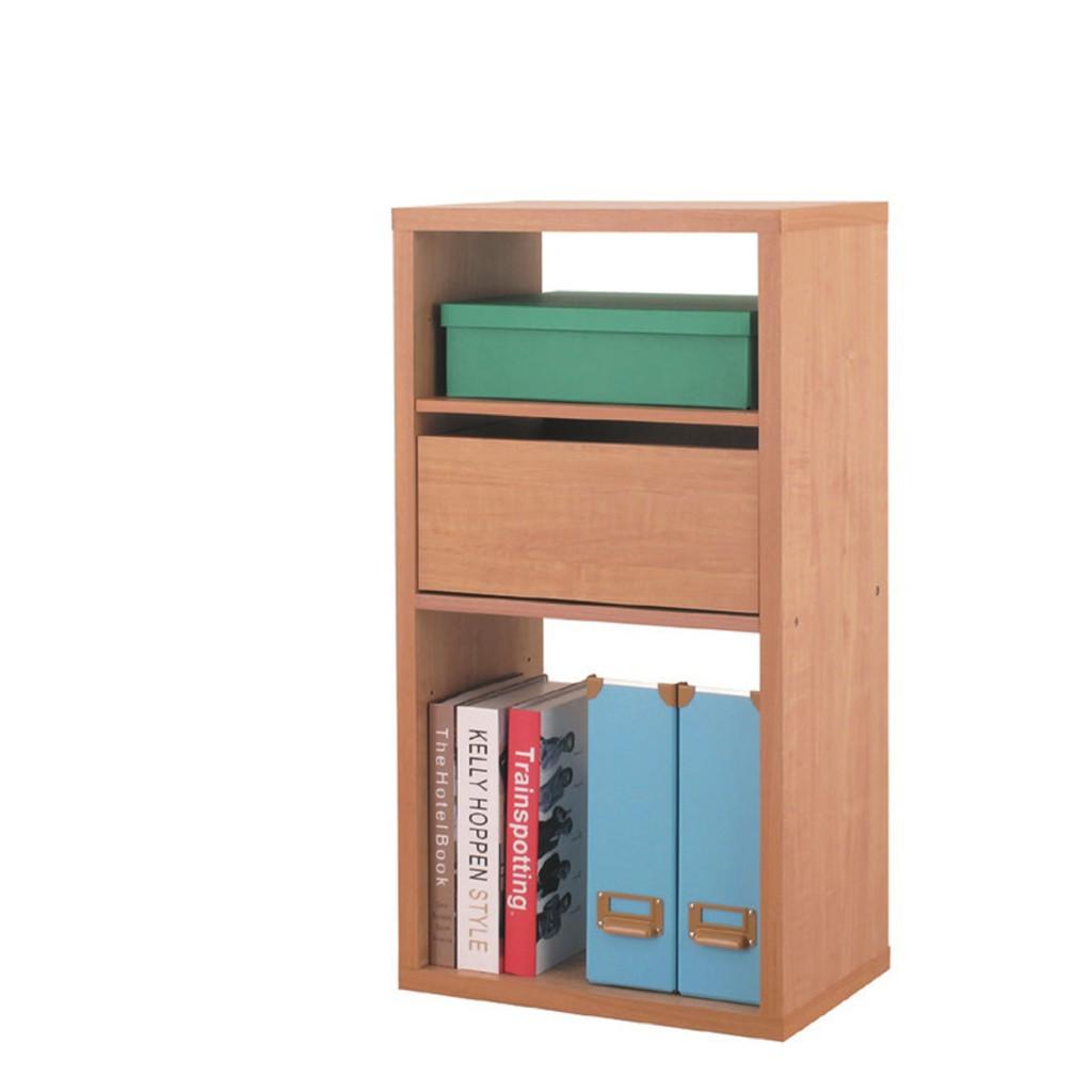 【43.4cm二格開放書櫃-K29-2082】北歐工業 置物櫃 玻璃實木 書房書櫃書架 櫥櫃 層架收納整理 【金滿屋】
