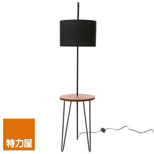特力屋 現代立燈 胡桃色邊桌附屬 E27型燈泡適用