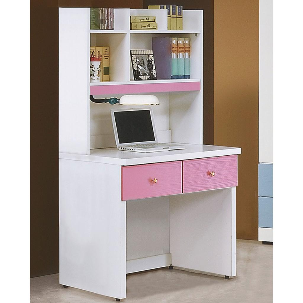 【80.5cm書桌-K16-1851】工業風工作桌 書櫃型書桌 書桌加書櫃 【金滿屋】