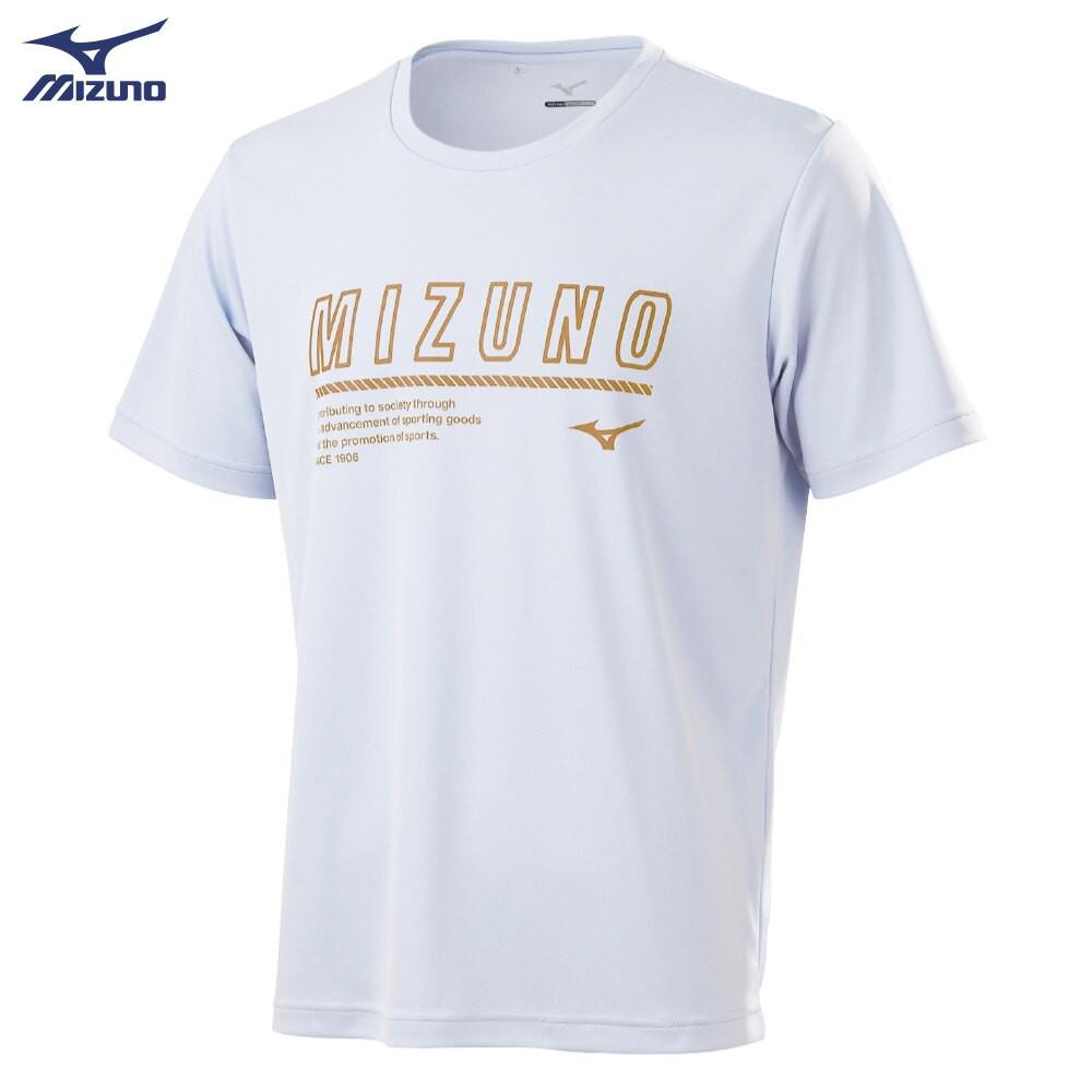 MIZUNO 男裝 短袖 T恤 休閒 吸汗快乾 抗紫外線 咖啡紗抗臭 白【運動世界】32TA100701