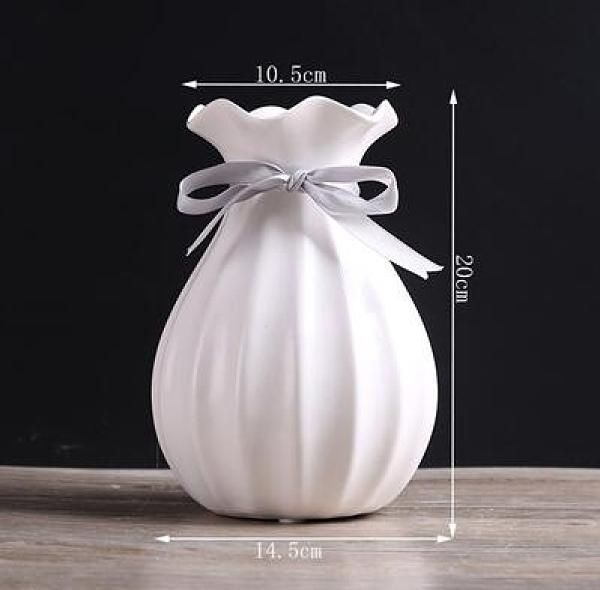 花瓶 小清新陶瓷花瓶創意時尚簡約現代客廳餐桌電視柜干花花插花器擺件【快速出貨八折下殺】