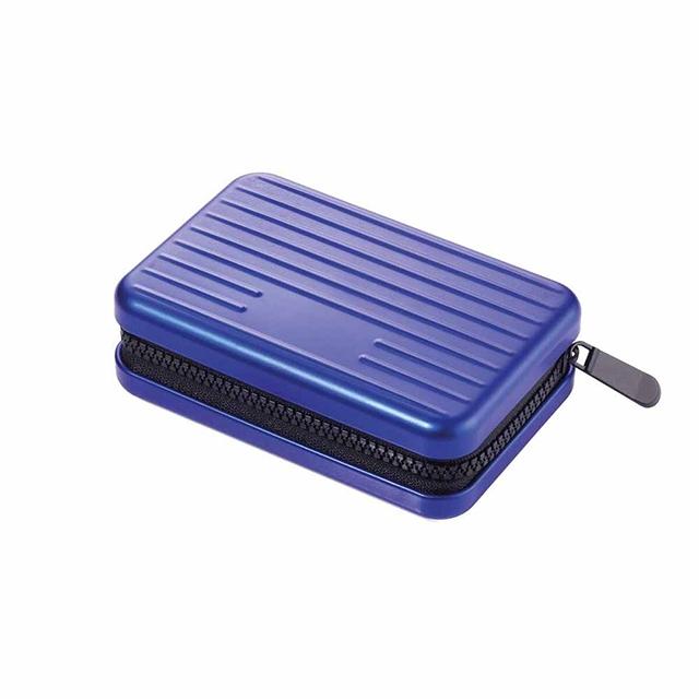 【TROIKA】RFID 個資防盜硬殼卡夾零錢夾-藍