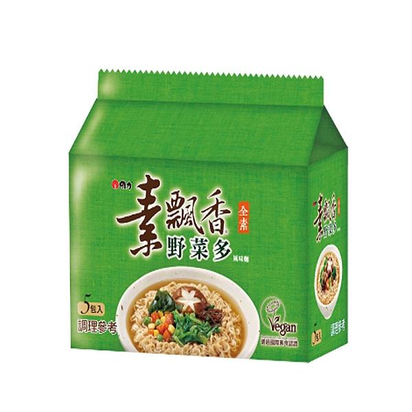 維力 素飄香 野菜多風味麵 80g (5入)/袋【康鄰超市】