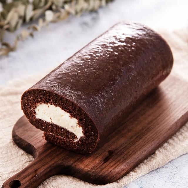 [i3微澱粉] 巧克力鮮奶油高蛋白蛋糕捲 (500g/條) (蛋奶素) 1條