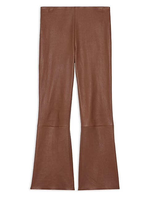 Leather Kick-Flare Pants