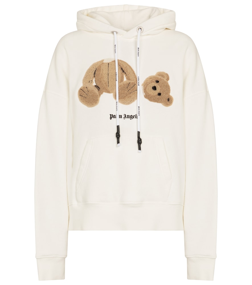 Embroidered cotton jersey hoodie
