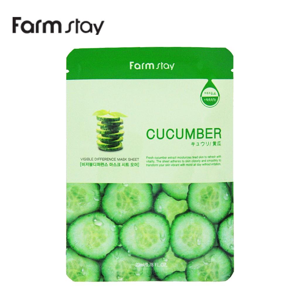韓國Farm stay 小黃瓜淨嫩補水精華面膜