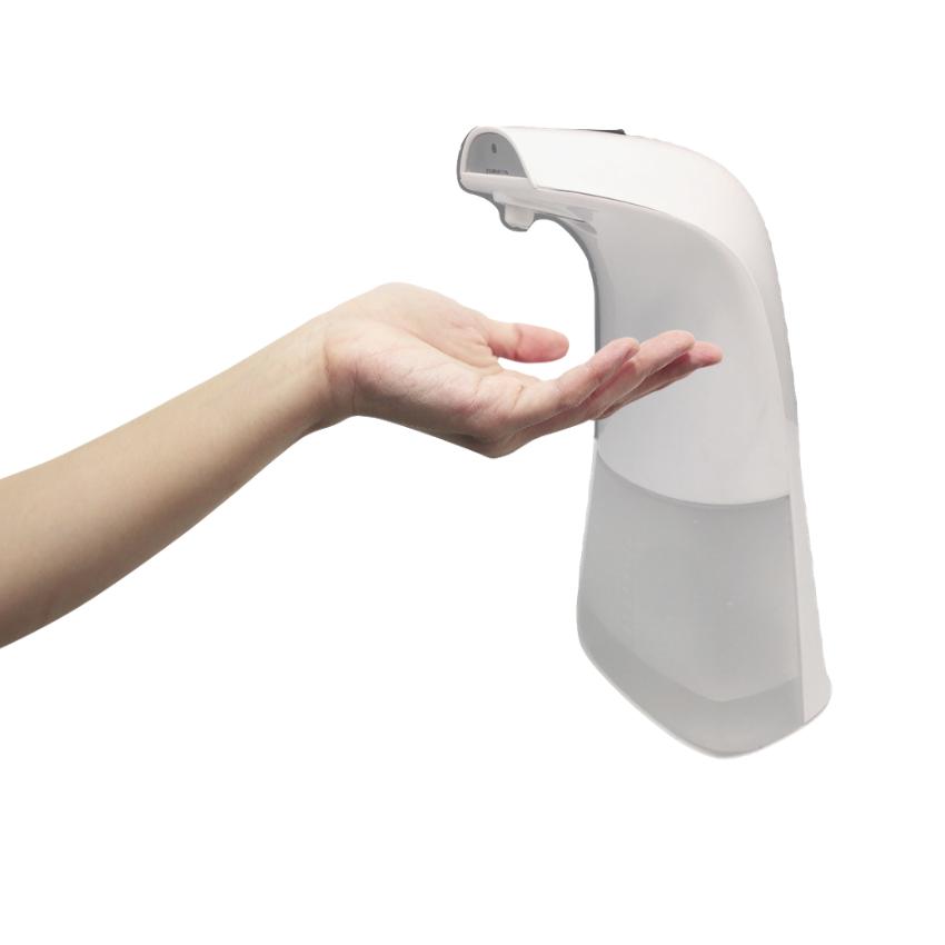 小型營業頭家適用消可愛全自動感應手指消毒機+酒精套組 - 天使白限定色