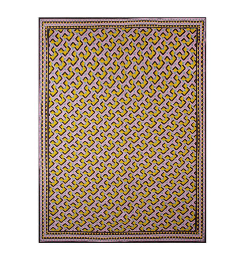 La Doublej Wool Domino Rosa Blanket (148Cm X 208Cm)