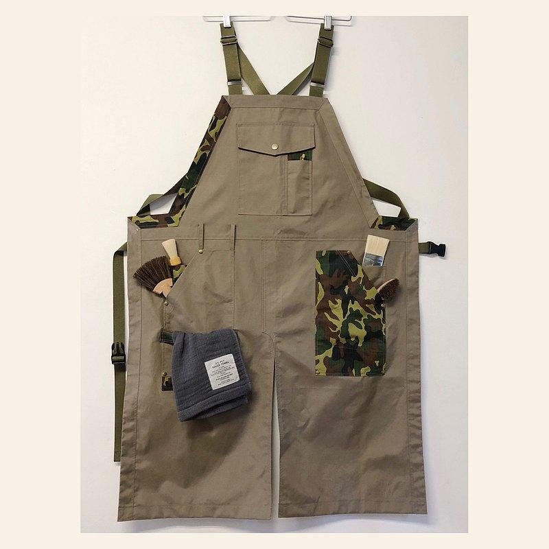 工裝機能訂製台灣設計師工作圍裙迷彩