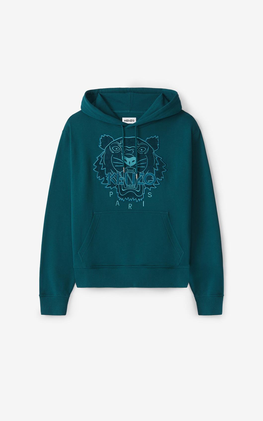KENZO Sweatshirt avec capuche Tigre